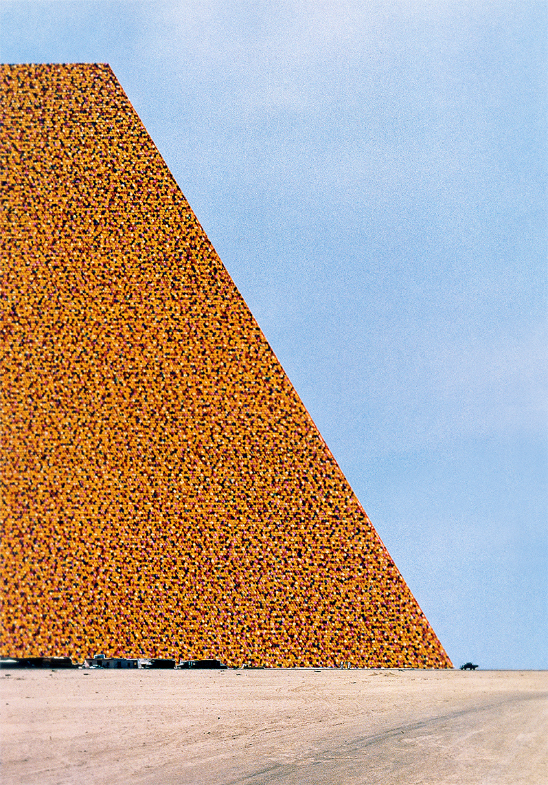 The Mastaba of Abu Dhabi (Project for United Arab Emirates), Photo: André Grossmann, © 1979 Christo