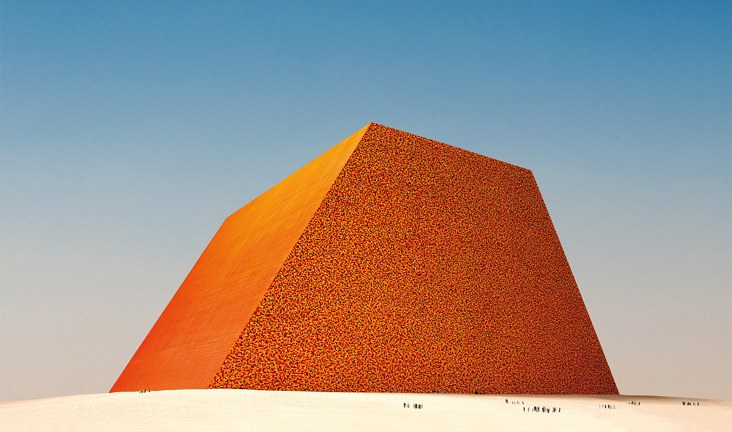 The Mastaba of Abu Dhabi (Project for United Arab Emirates), Photo: Wolfgang Volz, © 1979 Christo