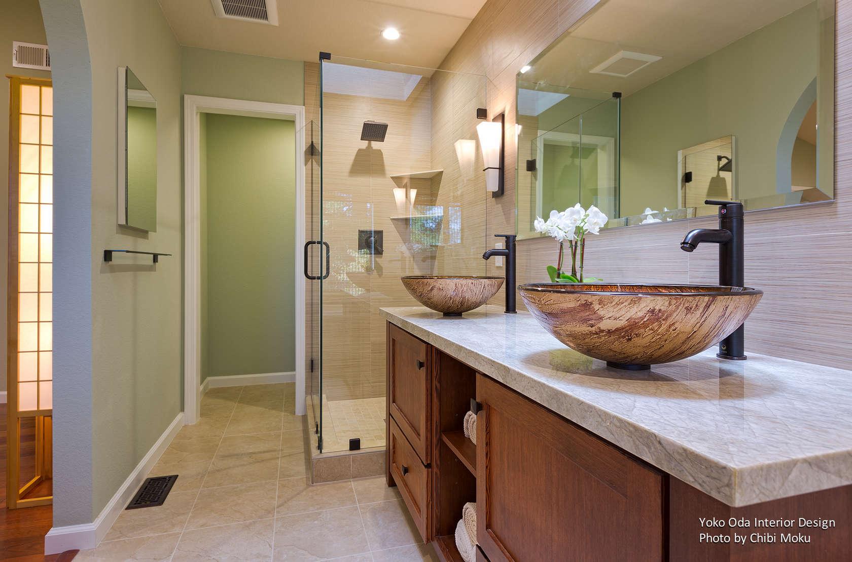 Yoko oda interior design zen bathroom walnut creek ca for Bath remodel walnut creek ca